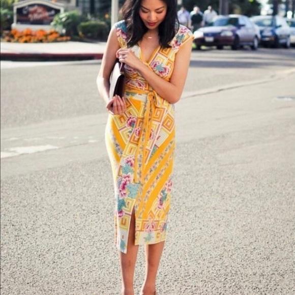 ac85f42dfd5d7 Diane Von Furstenberg Willow Wrap Dress Midi